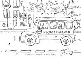 Small Picture School Bus Colouring Page