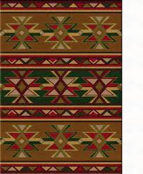 american dakota cabin dakota star green area rug santa fe ranch american dakota cabin dakota star green area rug