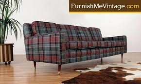 loveseats plaid sofa and loveseat long mid century modern