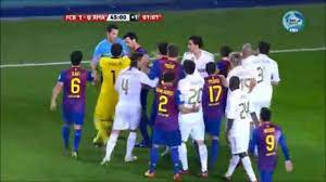 Real Madrid - Barcelona Maçı Büyük Kavga - YouTube