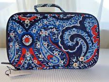 nwt vera bradley blush and brush makeup case marrakesh cosmetic bag
