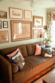 wall paint for brown furniture. Family Room Wall Colors Comfortable Brown Couch With Sea Foam Green Color Using Decorative Hanging For Paint Furniture D