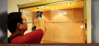 how to install a sliding glass cabinet door construction sliding glass kitchen cabinet doors