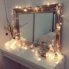 ikea lighting ideas. ikea vanity with christmas lights decorated in ribbons do this for chest of drawers lighting ideas