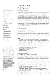 Civil Engineering Resume Templates Resume Sample