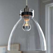 large glass pendant light shade industrial west elm o large blown glass pendant lights