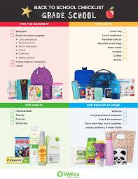 School Checklist Back To School Checklists For Kindergarten Grade School Kids