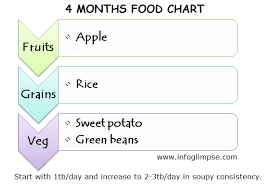 Chikku World Food Chart And Recipes For 4 Months Old Baby