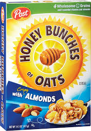 packaging of honey bunches of oats with almonds