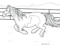 Wild Horse Herd Coloring Pages Beautiful Carousel To Print