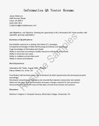 Qa Tester Job Description Template Templates Yun56 Co Resume Format
