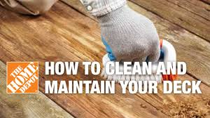 how to clean and maintain your deck