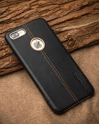 iphone 7 7 plus deer skin pattern leather back case black