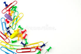colorful office accessories. Download Blank Page With Colorful Office Accessories Stock Photo - Image Of Drawing, Design: