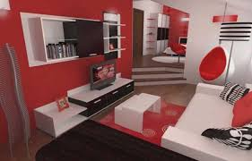 Red Black And Cream Living Room Red Color Living Room Decor With Dark Cream Wall Ideas Home