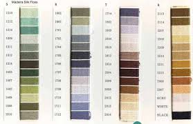 Madeira Threads Madeira Skeins Color Charts List Of Colors