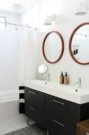 bathroom features gray shaker vanity: bathroom vanity ikea mirrors miles amp may wall sconces west elm subway tile