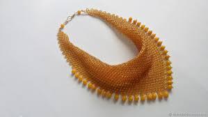 necklaces beads handmade livemaster handmade scarf necklace of beads ceylon