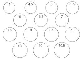 circle size chart