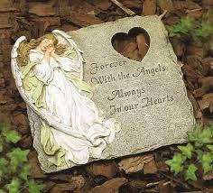 angel memorial garden stone saint