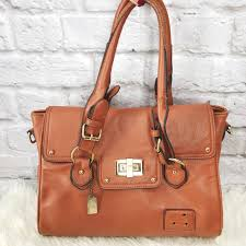 Coach Sadie Flap In Spectator Medium Brown Satchel