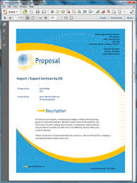 export services sample proposal import export services sample proposal