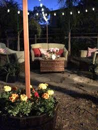 diy outdoor lighting hang string lights outdoors