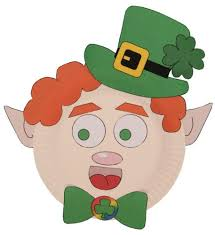template of a leprechaun leprechaun paper plate craft