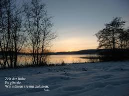 Ruhe Entspannung Abend Winterstimmung Seeimwinter Sprüche