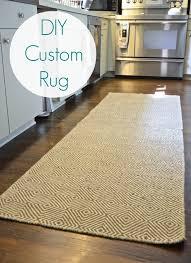 remarkable diy runner rug diy kitchen rug rugs ideas