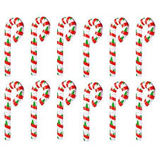 Plastic Candy Cane Decorations Set of 100 100 Giant Inflatable Christmas Decorations Candy Cane 54