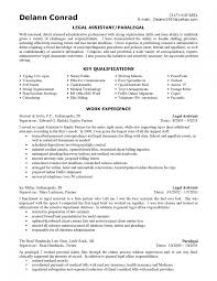 Paralegal Resume Objective Examples Templates Template Legal