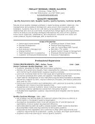Quality Manager Resume Examples Sample Resume Of A Quality Manager Danayaus 8