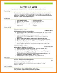 Securitas Security Officer Sample Resume Grader Operator Sample
