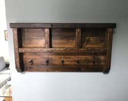 Dark Wood Coat Rack Wall coat hanger Etsy 76