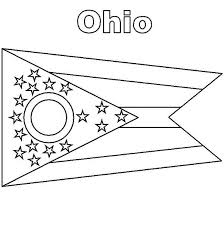 Ohio State Flag Coloring Page Color Luna