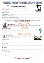 english teaching worksheets story writing english worksheets writing a scary story