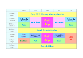 Summer Camp Weekly Schedule Camps Nyc Martial Arts Center