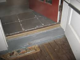 front door thresholdInstalling a Tile Landing Plus Raising a Door Sill  Building Moxie