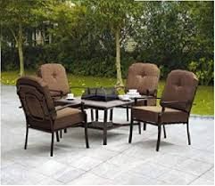 fire pit and chairs. Exellent Pit 5piece Patio Conversation Set With Fire Pit  Includes 1 Table And 4 Intended And Chairs Y