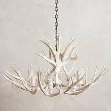 white shed antler chandelier