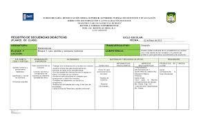 Formato 2012 Plan De Clase