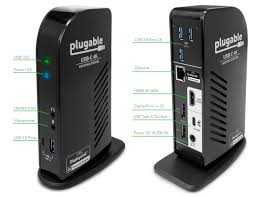 Dell Docking Station Compatibility Chart Plugable Usb C Triple 4k Display Docking Station With