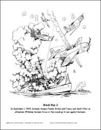 History is complete without a survey of the war, its causes, and its aftermath. World War 2 Coloring Pages D Day