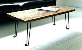 iron leg coffee table wood with metal legs round black c