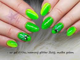Neon Uvled Gel 0736 5ml Neonový Zelený Třpytivý