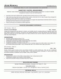 Manager Resume inside Inventory Management Specialist Resume
