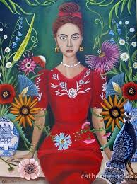 delphine florist to the stars painting by artist catherine nolin