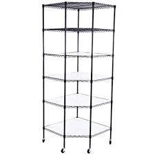 Metal Corner Shelving Unit Adorable Amazon Azadx 32 Tiers Corner Shelf Adjustable Metal Storage