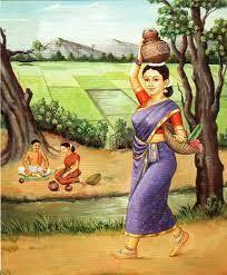 Village Woman Painting Wallpaper ...